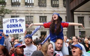 2016 CUBS fans at the World Series